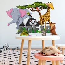 Stickers animaux décorent les chambres d'enfants