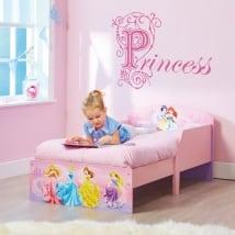 Vinyle décorer les chambres des enfants texte princesse