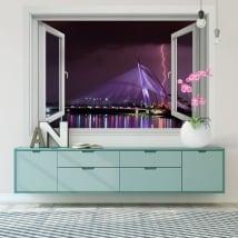Vinyle fenêtres rayons malaisie ville putrajaya 3d