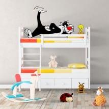 Vinyle décoratif chat sylvester et tweety
