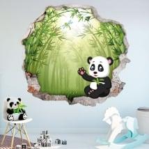 Vinyle les murs des enfants ours panda 3d