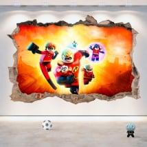 Vinyle et autocollants 3d lego l'incroyable 2