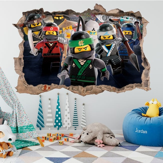Vinyle et autocollants lego ninjago 3d