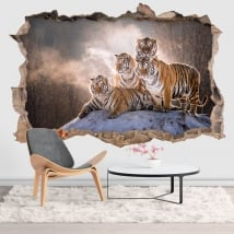 Vinyle et autocollants tigres du bengale 3d