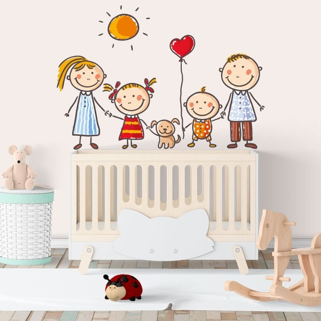 Vinyle murs dessin pour enfants famille