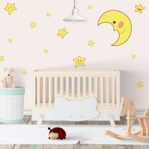 Vinyle adhésif lune et étoiles des enfants