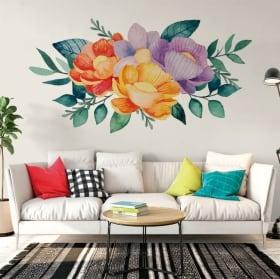 Vinyle et autocollants fleurs aquarelles