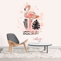 Vinyle et autocollants flamant décoration
