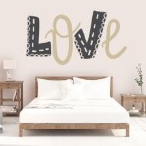 Vinyle et autocollants aimer murs et objets de décoration