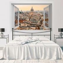 Vinyle décoration murs panthéon paris france 3d