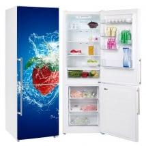 Vinyle réfrigérateurs et glacières éclaboussure de fraise
