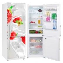 Vinyles pour réfrigérateurs fraises éclabousser
