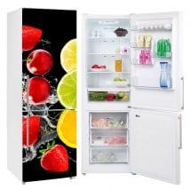 Vinyles pour réfrigérateurs fruits éclabousser