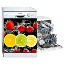 Vinyle vaisselle fruits éclabousser