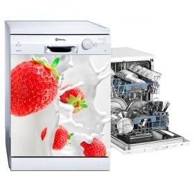 Vinyle pour lave-vaisselle éclaboussures de fraises