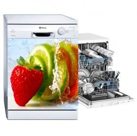 Vinyle adhésif vaisselle fruits dans l'eau