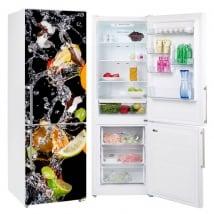 Vinyles pour réfrigérateurs fruits et eau