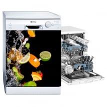Vinyle pour lave-vaisselle fruits et eau