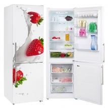 Vinyles pour réfrigérateurs fraises au lait
