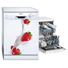 Vinyle pour lave-vaisselle fraises au lait