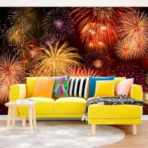Papiers peints de vinyle feux d'artifice