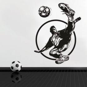 Vinyle décoratif et autocollants joueur de football