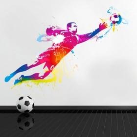 Vinyle et autocollants joueur de football