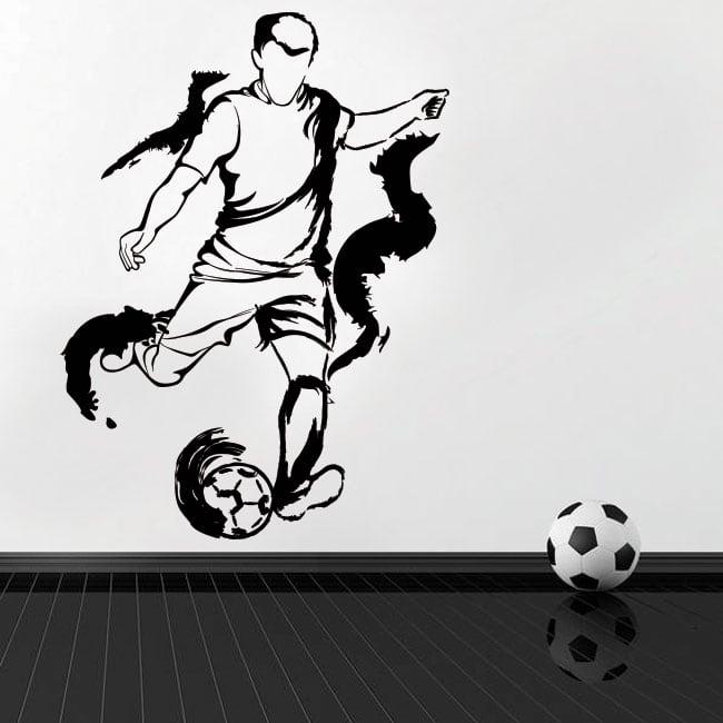 Vinyle et autocollants silhouette joueur de football