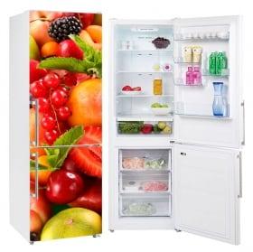 Vinyles pour réfrigérateurs collage de fruits