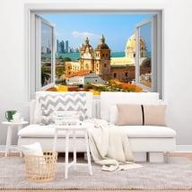 Vinyle fenêtre cartagena de indias colombie 3d