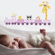 Vinyle adhésif et autocollants train de l'enfant