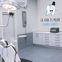 Vinyle et autocollants phrases de dentistes
