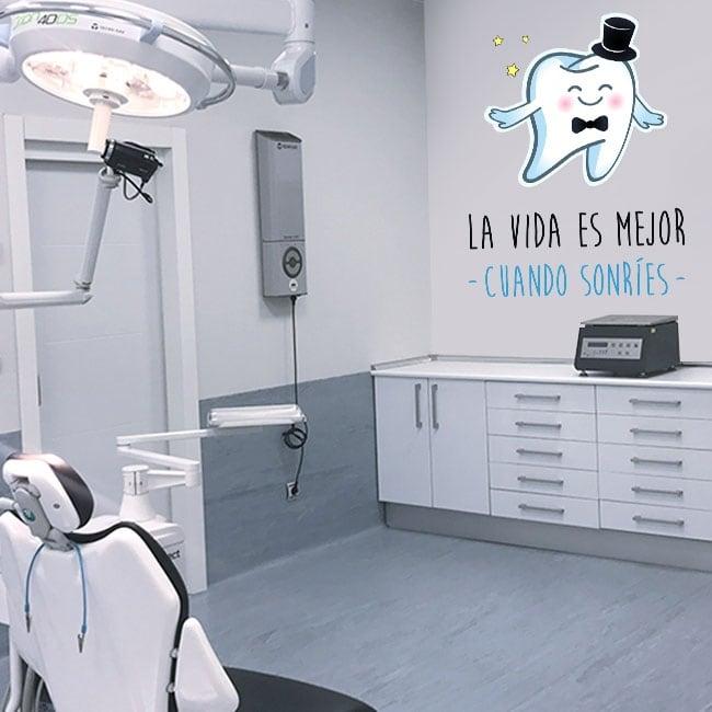 Vinyle et autocollants phrases de dentistes