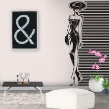 Vinyle et des autocollants pour décorer silhouette de femme