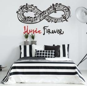 Vinyle décoratif murs phrases de musique