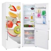 Vinyle décoratif pour réfrigérateurs bol de fruits