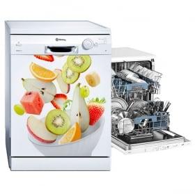 Vinyle et autocollants pour lave-vaisselle bol de fruits