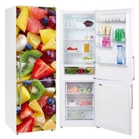 Vinyle décoratif fruits réfrigérateurs