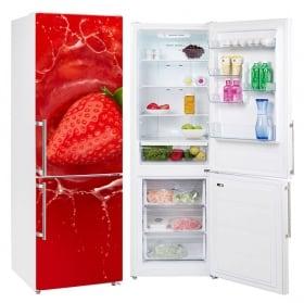 Vinyle fraise dans l'eau réfrigérateurs de décoration