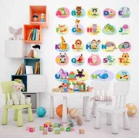Vinyle et autocollants pour enfants les animaux alphabet en anglais