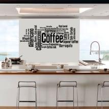 Vinyle décoratif et autocollants types de café