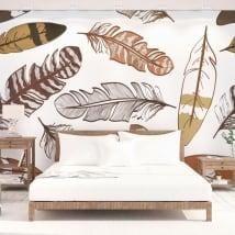 Peintures murales en vinyle plumes à décorer
