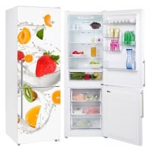 Vinyles pour réfrigérateurs fruits au lait
