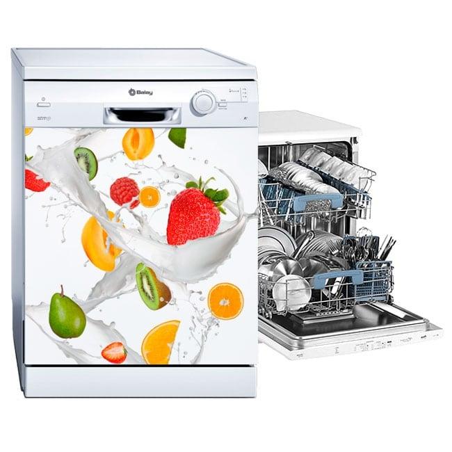 Vinyle pour lave-vaisselle fruits au lait