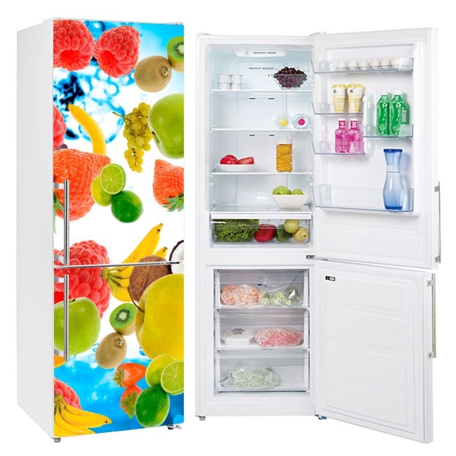 Vinyle des fruits décor les réfrigérateurs
