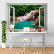 Vinyle des fenêtres cascade décor les murs 3d