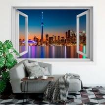Vinyle des fenêtres le canada couleurs du coucher du soleil 3d