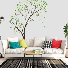 Vinyle décoratif et autocollants arbre avec des feuilles