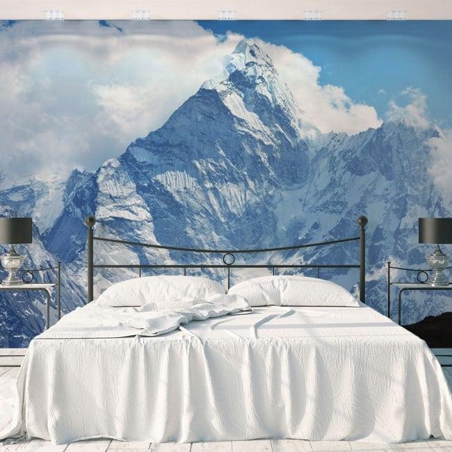 Peintures murales en vinyle montagnes enneigées népal