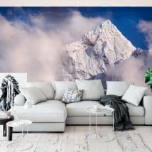 Peintures murales en vinyle top montagnes kangtega himalaya népal